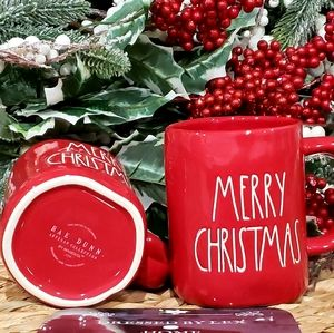 NWT HTF Rae Dunn Merry Christmas  Red Mug